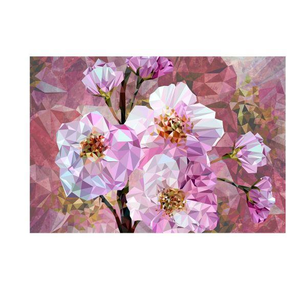Vliestapete abstrackte Blumen