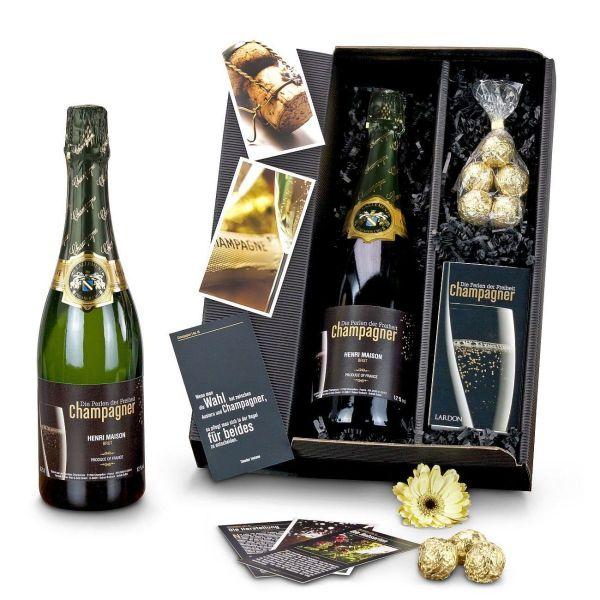 """Geschenk-Set """"Champagner-Box"""""""