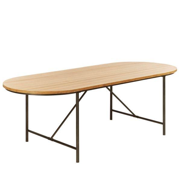 Tisch Larry Natur/Schwarz 200 x 100 cm