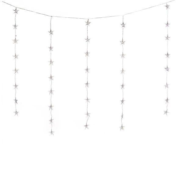 LED-Lichterkette Sternenvorhang