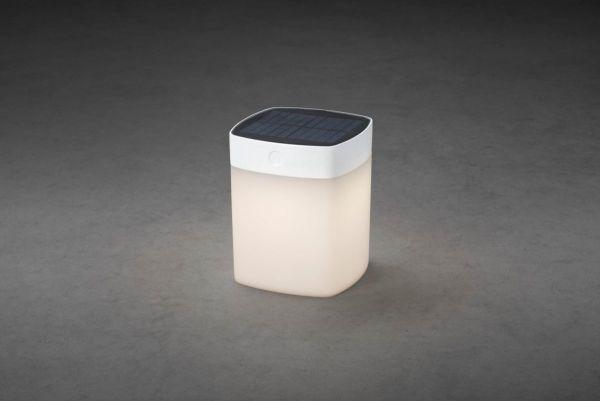 Solarleuchte Cubic Weiß