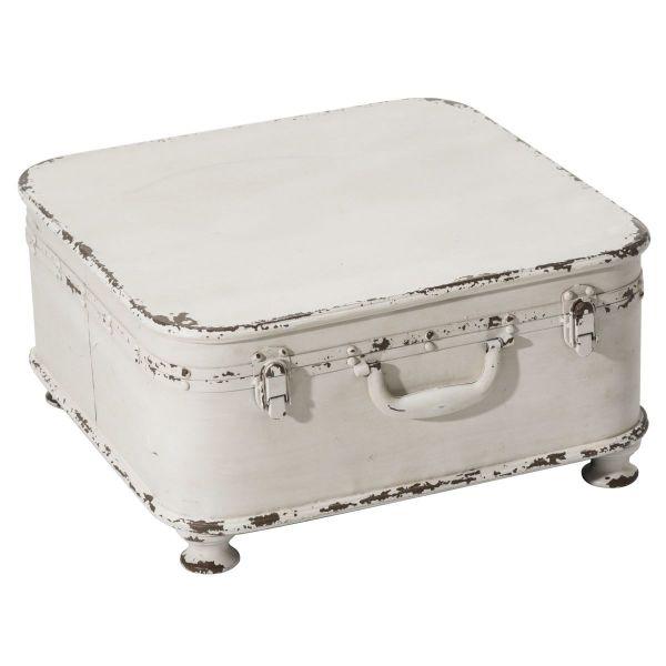 Beistelltisch Koffer Weiß