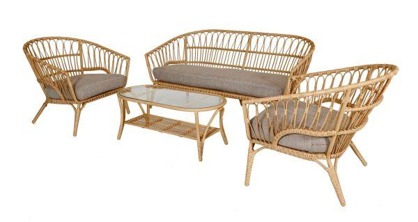 Outdoor-Möbel-Set, 4-tlg. Coco Natur