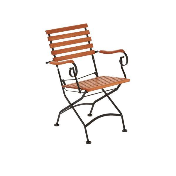 Outdoor Sessel mit Armlehnen Bellagio braun