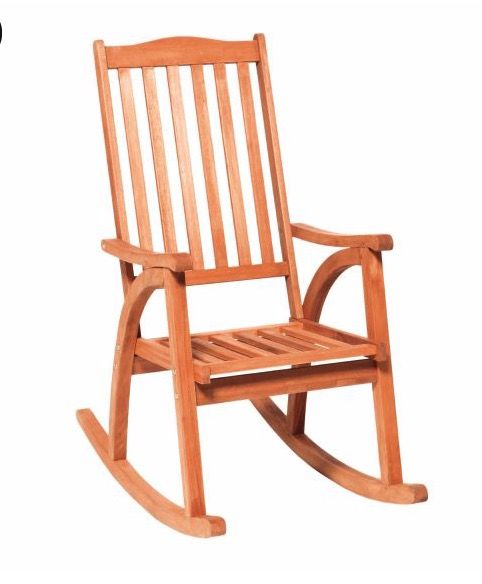 Outdoor Schaukelstuhl Gartenstuhl mit hoher Rückenlehne