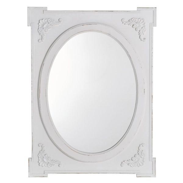 Wandspiegel Romance Weiß
