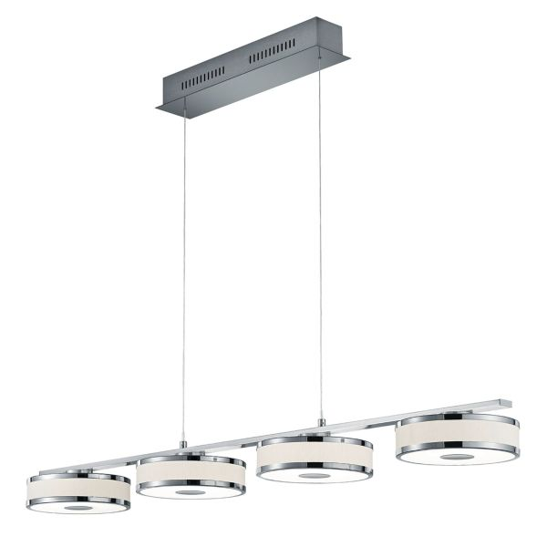 TRIO Deckenleuchte 4x7,5W LED-PLAGENTO Chrom