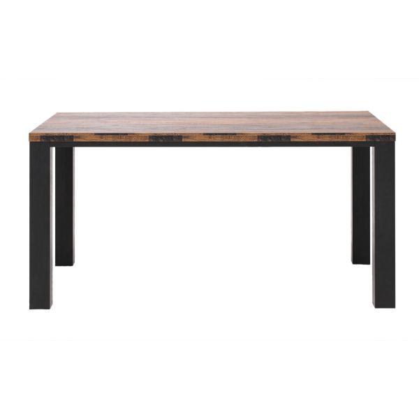Tisch Texas Oak Braun/Schwarz 90 x 160 cm