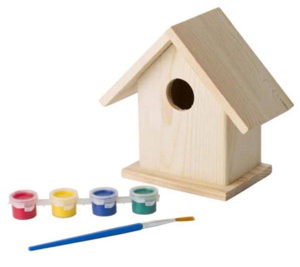 Vogelhaus mit Mal Set