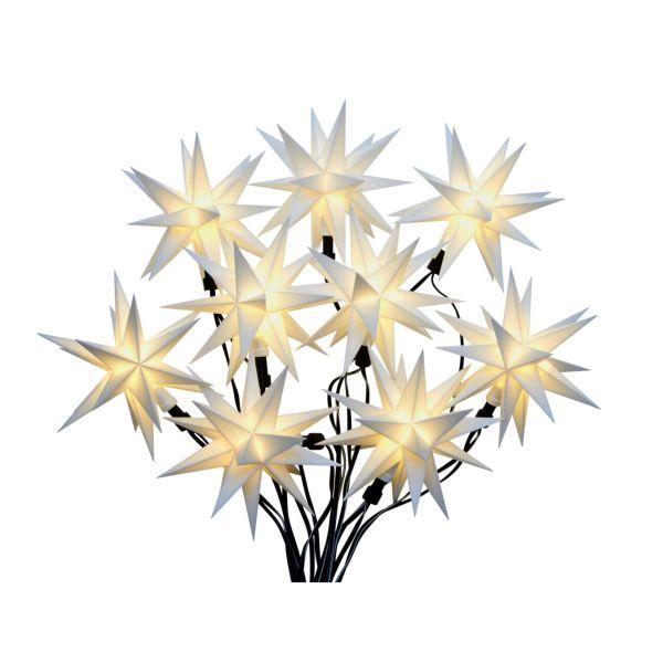 LED-Lichterkette 3D-Sterne Weiß