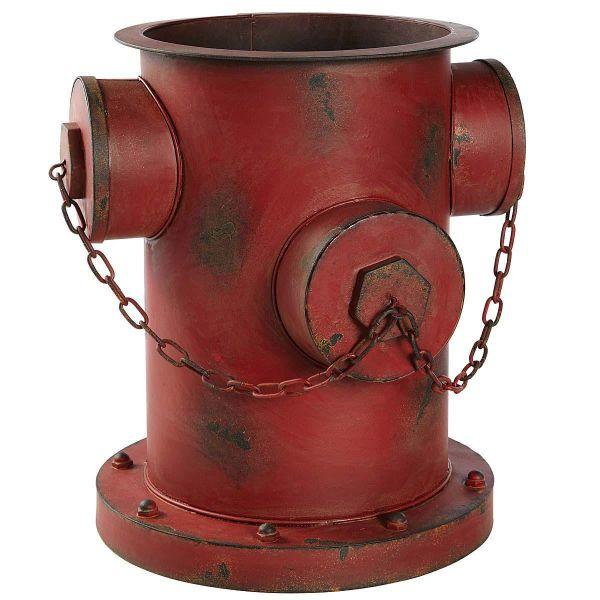 Blumentopf Hydrant Rot