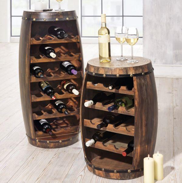 Flaschenregal Weinfass Regal