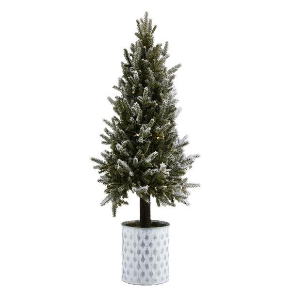 LED-Deko-Baum Tännchen Grün/Weiß