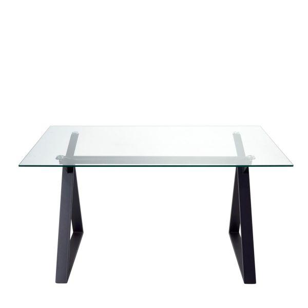 Tisch Silvio Schwarz 90 x 150 cm