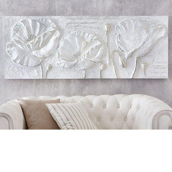 Bild Square Flowers Weiß