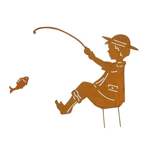 Gartenstecker Angler Rost