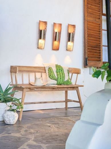 Outdoor-Bank Juana bayrische Sitzbank 123 x 49 x 73 cm Gartenbank Massives Akazienholz