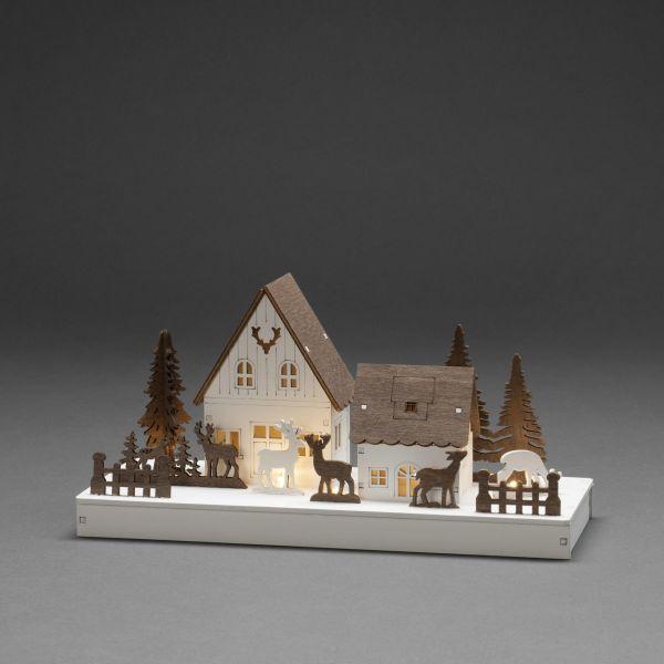 LED-Holzsilhouette Home Weiß/Braun