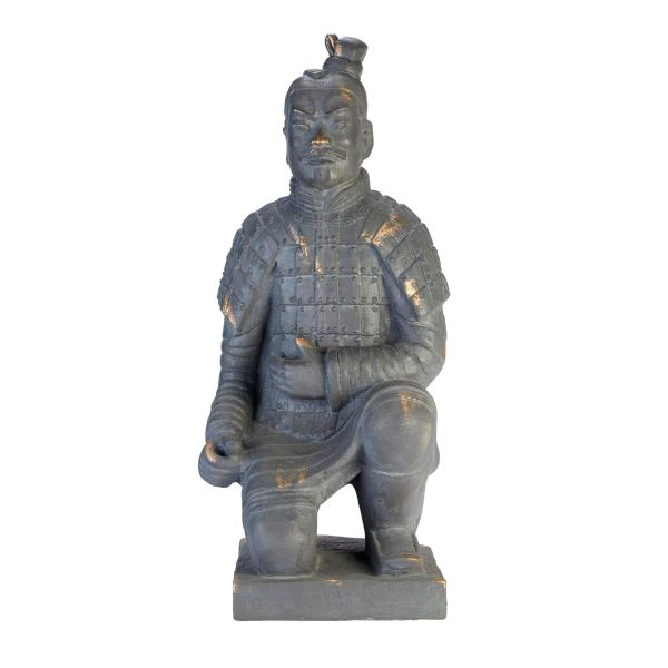 Deko-Figur Krieger Grau
