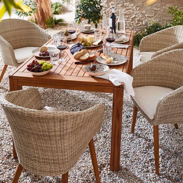 Outdoor-Tisch Mera Braun