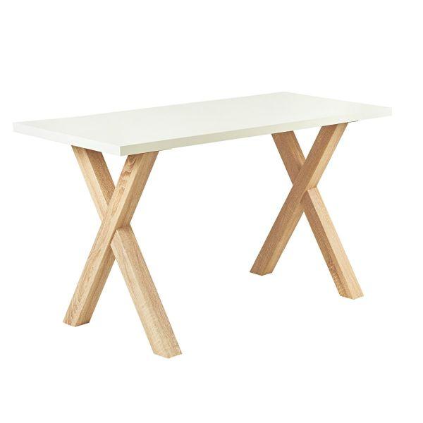 Tisch Thore Weiß/Natur 70 x 140 cm