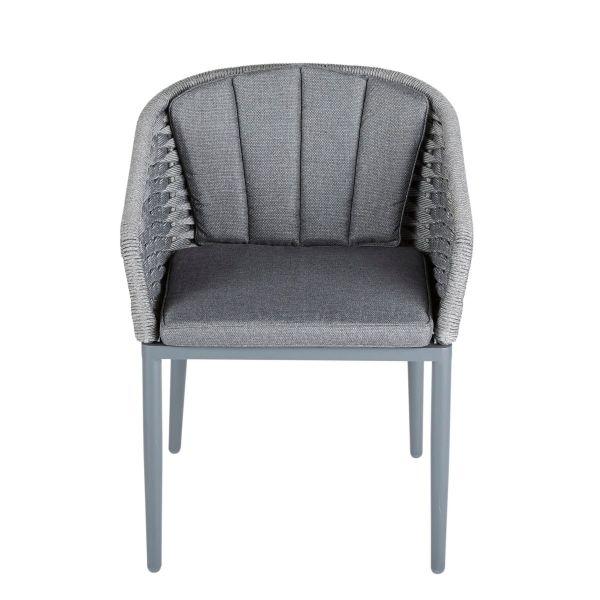 Outdoor-Stuhl Carlo Anthrazit/Grau