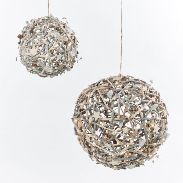 LED-Deko-Objekt Weihnachtsball groß
