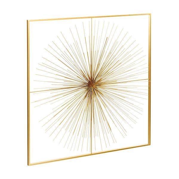 Wand-Objekt Sunny Goldfarben