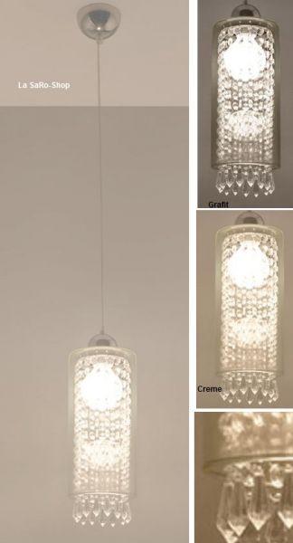 Hängelampe Fererro A++ -E Glas 3 Farben Hängeleuchte Loft Look Lampe Leuchte