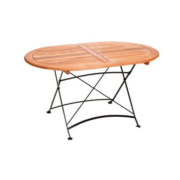 Outdoor-Tisch Zirkel Natur mittel