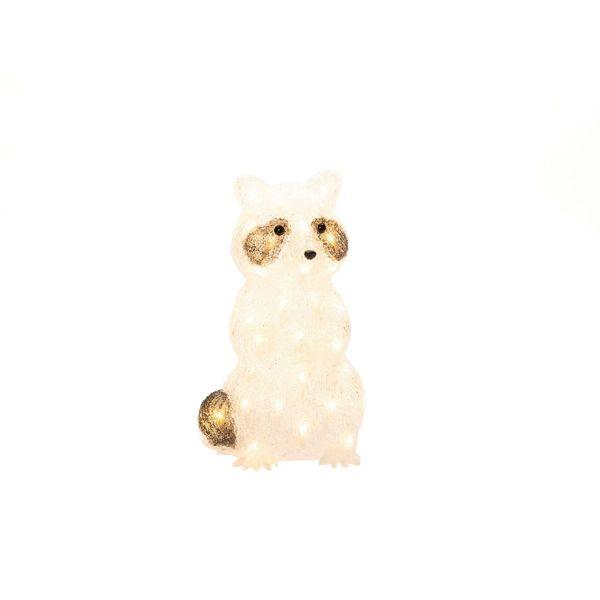 LED-Deko-Figur Waschbär Tommy