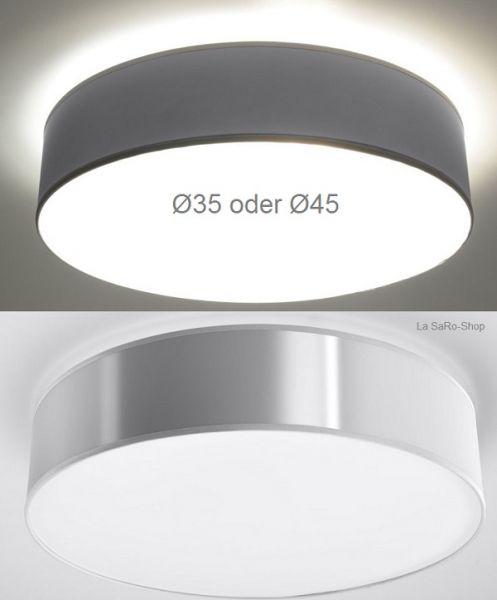 Deckenlampe Atis Silber Grau rund Deckenleuchte