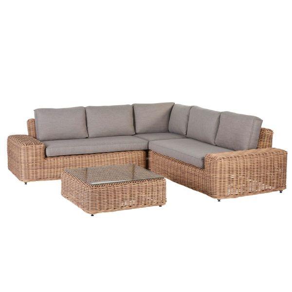 Outdoor-Lounge-Set, 2-tlg Sylt Natur/Beige