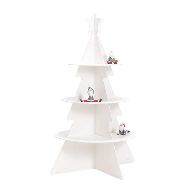 Deko-Objekt Tannenbaum mit Präsentationsfläche Weiß