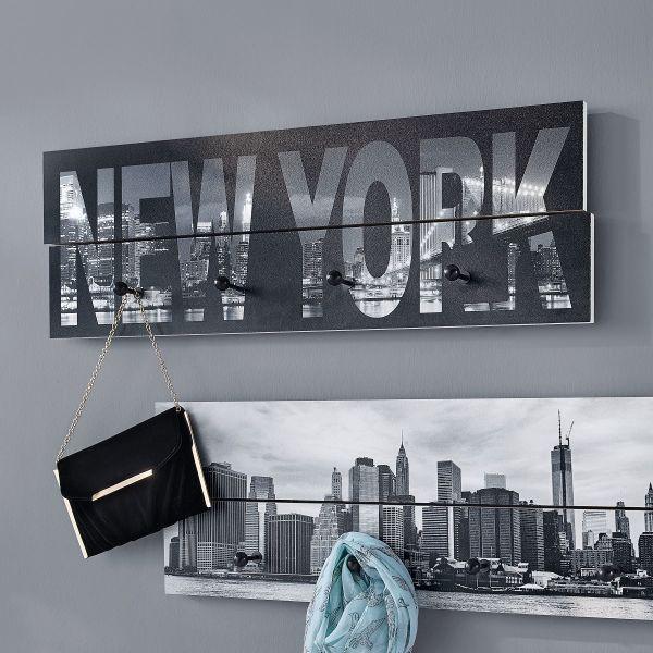 Garderobe New York Schwarz Weiss