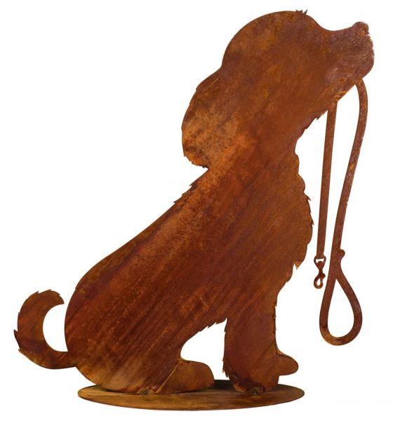 Deko Objekt Hund Bello Rost groß