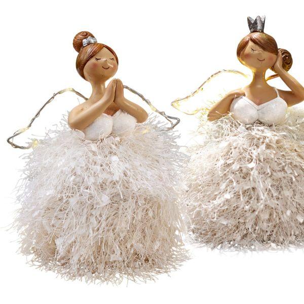 LED-Deko-Figuren-Set, 2-tlg. Angels