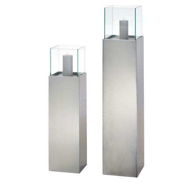 Windlichtsäule Metallic Anthrazit metallic klein