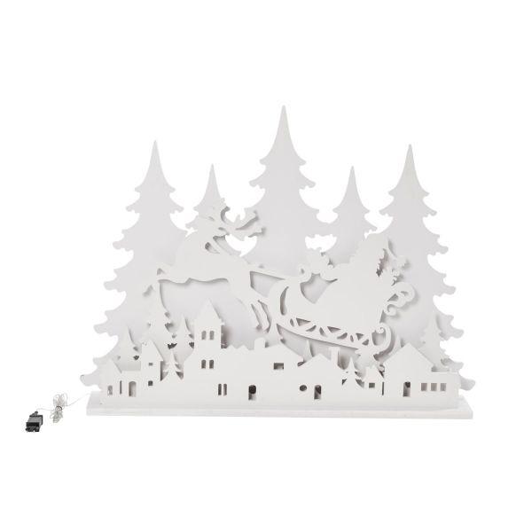LED-Deko-Objekt XXL-Weihnachtssilhouette Weiß