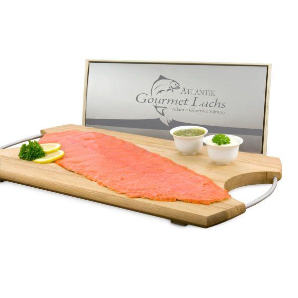 Lachs-Gutschein in Holzbox: Gourmet