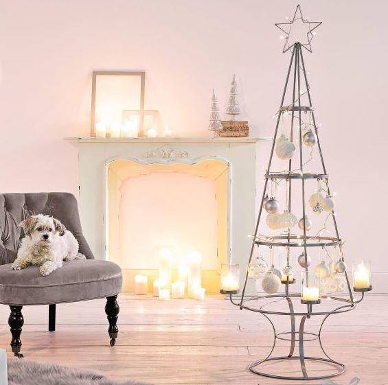 Deko-Objekt Weihnachtsbaum Metall/Glas H 150 cm Dekoration Weihnachtsdekoration