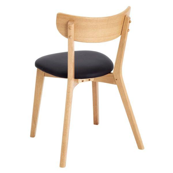 Stuhl-Set 2-tlg. Nielson Natur/Schwarz