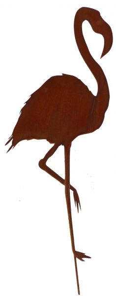 Gartenstecker Flamingo Rost