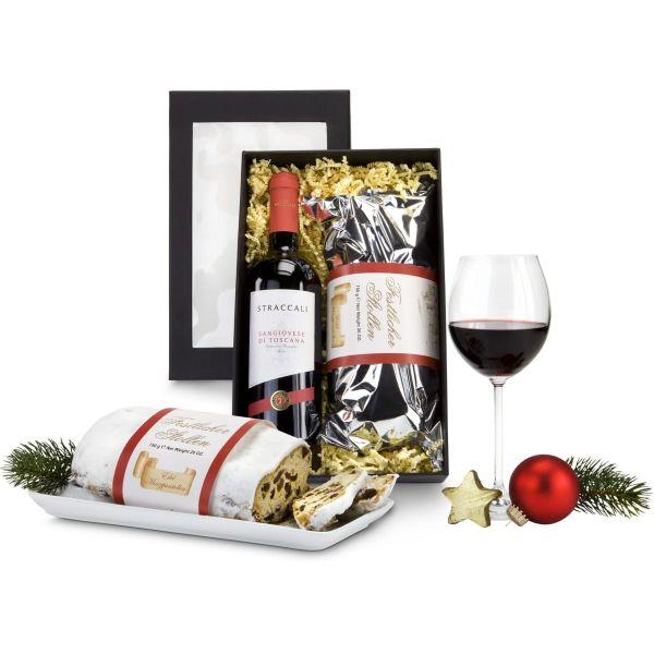 Geschenkset Rotwein & Stollen