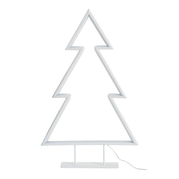 LED-Metallbaum Zick-Zack Weiß
