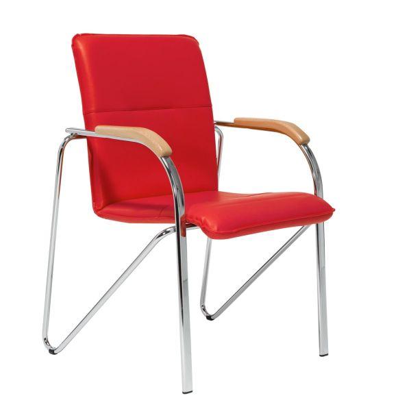 Besucherstuhl-Set, 2-tlg. Samba Rot