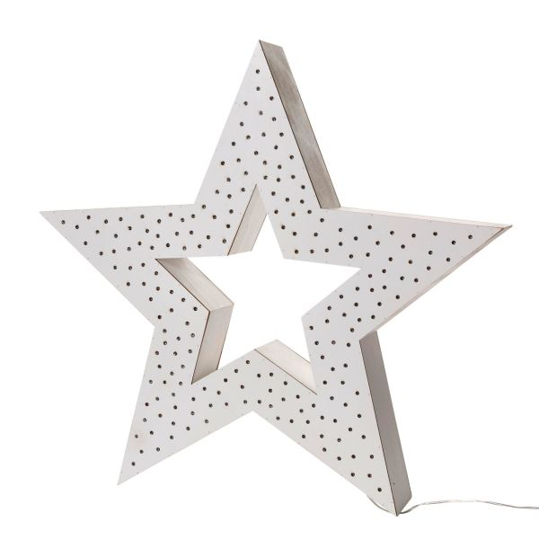 LED-Deko-Objekt Multi Stern Weiß groß