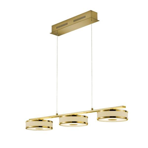 TRIO Deckenleuchte,3x7,5 W LED-PLAGENTO Goldfarben