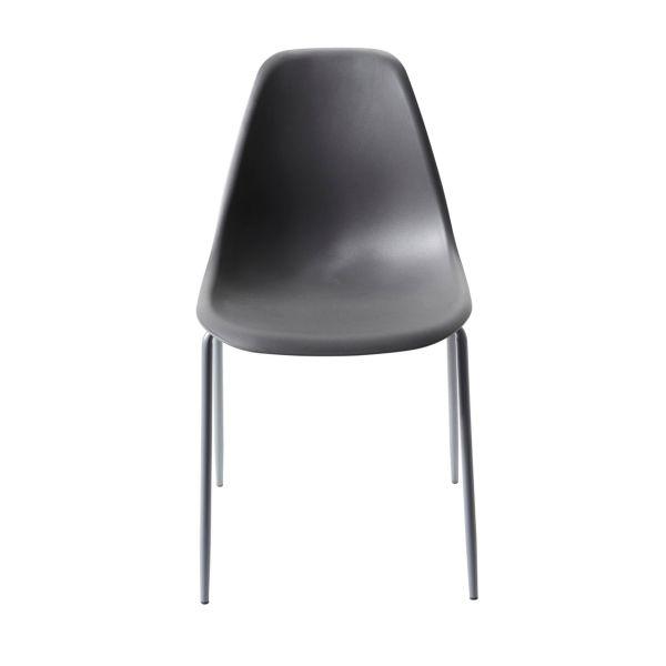 Stuhl-Set, 4-tlg. Leandro Grau