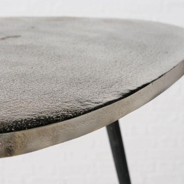 Beistelltisch-Set, 2-tlg. Shiny Silberfarben